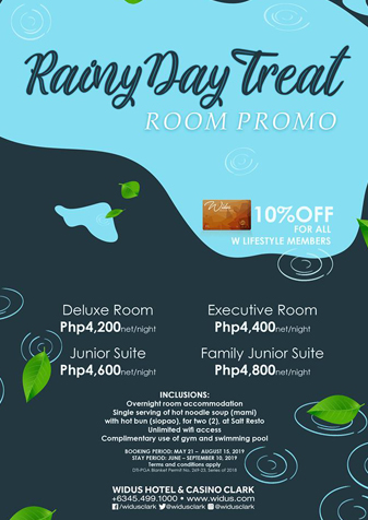 rainy day widus hotel room promo