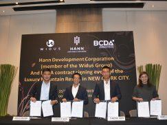 Widus, BCDA sign lease agreement to develop P12-B Hann Lux luxury mountain resort in New Clark City