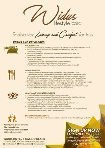 Widus Lifestyle Card - Widus Hotel membership