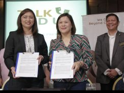 Contract Signing with Ms. Neki Liwanag and Ronnel Gulimlim, Prism Lounge. Talk Wid Us!